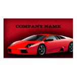 Visitenkarte-rotes Sport-Auto