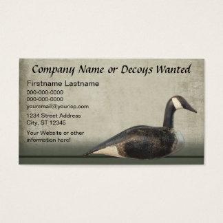Visitenkarte-Schablone: Lockvogel-Geschäft Visitenkarte