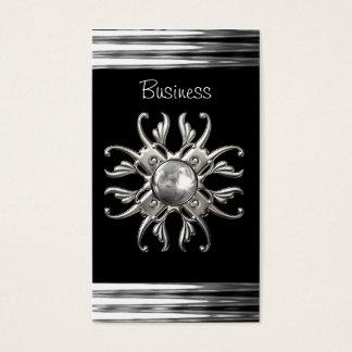 Visitenkarte-schwarzes Silber Visitenkarten