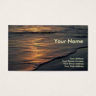 Visitenkarte-Strand-Sonnenuntergang Visitenkarte