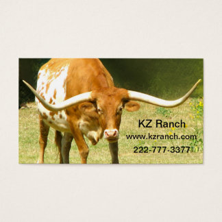 Visitenkarte Texas Longhorn