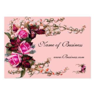 Visitenkarte-Vintage rosa Rosen Jumbo-Visitenkarten