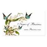 Visitenkarte-Vintage Schmetterlinge weiß