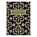 Visitenkarte-Vintages rosa schwarzes Blumen