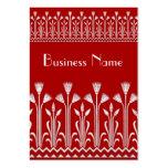 Visitenkarte-Vintages viktorianisches Muster-rotes