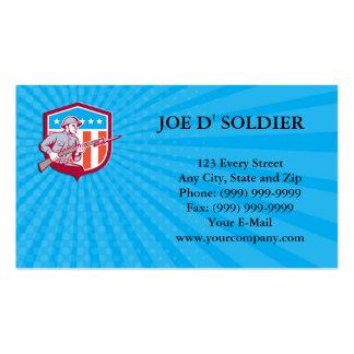 Visitenkarte-Weltkrieg-Soldat-amerikanisches Retro Visitenkarten