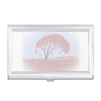 Visitenkartehalter-Kirschblüte-Baum Visitenkarten Dose