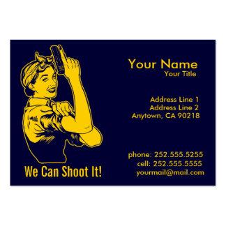 Visitenkarten Damen-Shooter