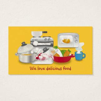Visitenkarten der Mammas Nahrungsmittel