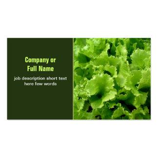 Visitenkarten des grünen Salats