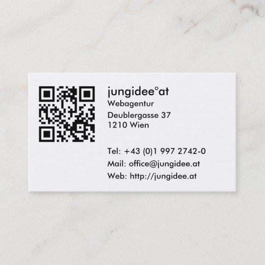 Visitenkarten Mit Qr Code Visitenkarte Zazzle De