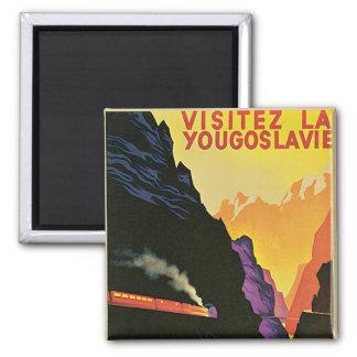 Visitez La Yougoslavie Quadratischer Magnet