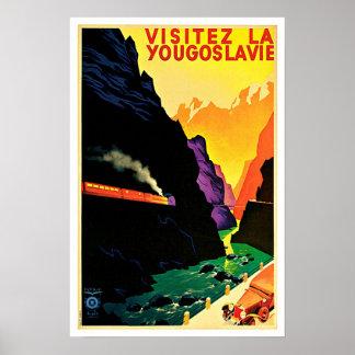 Visitez La Yougoslavie Vintage Reise Poster