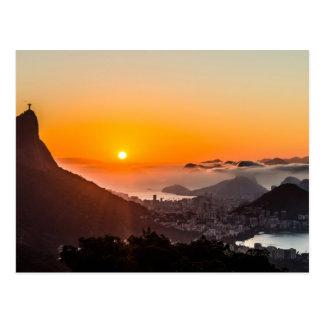 Vista Chinesa, Rio de Janeiro, Brasilien Postkarte
