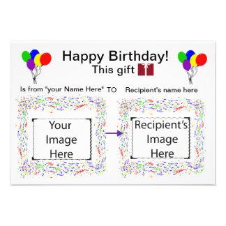 Visuelle Stichwort-Karte Geburtstag Ankündigungskarten