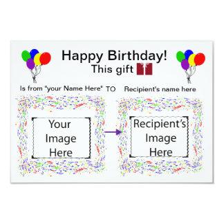 Visuelle Stichwort-Karte: Geburtstag 8,9 X 12,7 Cm Einladungskarte
