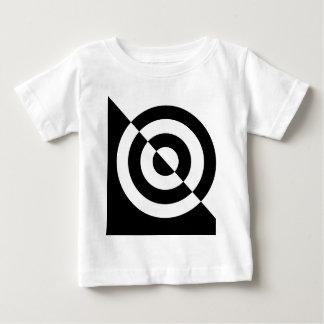 Visuelles Anregungst-stück des Schwarzweiss-Babys Baby T-shirt