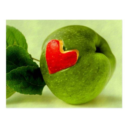 Vitamine mit Herz Postkarte