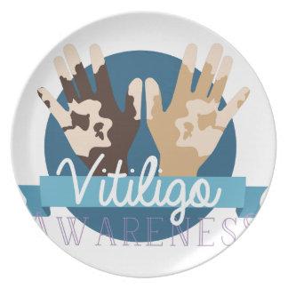 Vitiligo Bewusstsein Teller