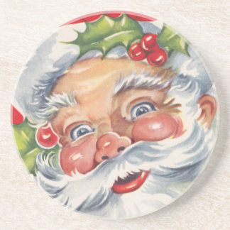 Vitnage Weihnachten, lustiger Weihnachtsmann mit Untersetzer