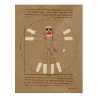 Vitruvian Affe-Postkarte Postkarte