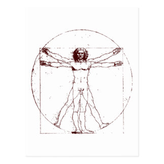 Vitruvian Mann BRK Postkarte