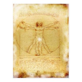 Vitruvian Mann Da Vinci Postkarte