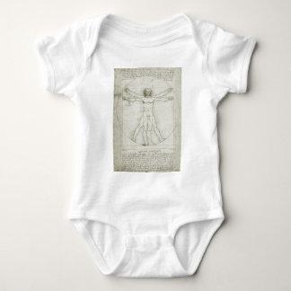 Vitruvian Mann durch Leonardo da Vinci Baby Strampler