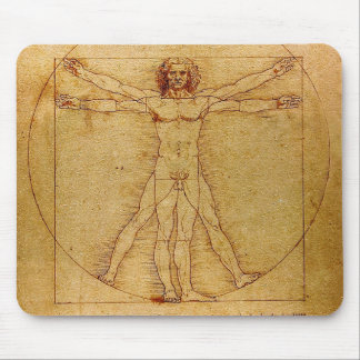Vitruvian Mann durch Leonardo da Vinci Mousepad