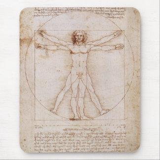 Vitruvian Mann durch Leonardo da Vinci Mauspad