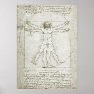 Vitruvian Mann durch Leonardo da Vinci Poster