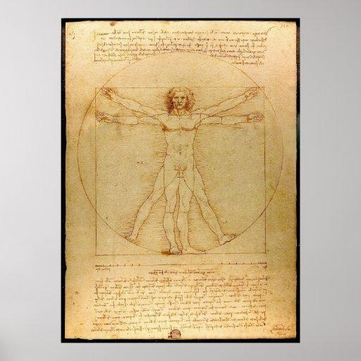 Vitruvian Mann durch Leonardo da Vinci Posterdruck