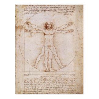 Vitruvian Mann durch Leonardo da Vinci Postkarte
