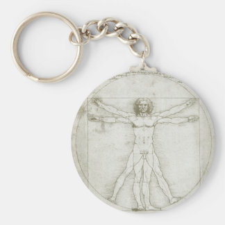 Vitruvian Mann durch Leonardo da Vinci Schlüsselanhänger