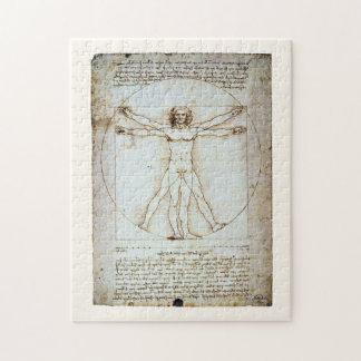Vitruvian Mann, Leonardo da Vinci, circa 1490. Puzzle