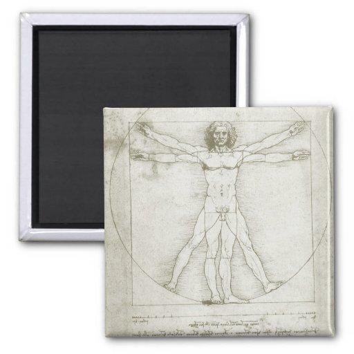 Vitruvian Mann Leonardo da Vinci, Kühlschrankmagnet