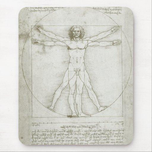 Vitruvian Mann Leonardo da Vinci, Mousepad