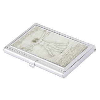 Vitruvian Mann Leonardo da Vinci, Visitenkarten-Halter