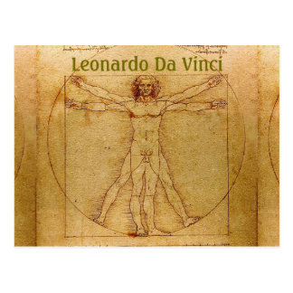 Vitruvian Mann-LEONARDO Da Vinci Postkarte