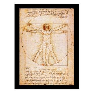 Vitruvian Mann - Leonardo da Vinci Postkarte