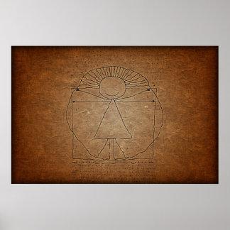 Vitruvian Mann Plakat