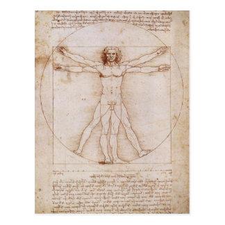 Vitruvian Mann Postkarte