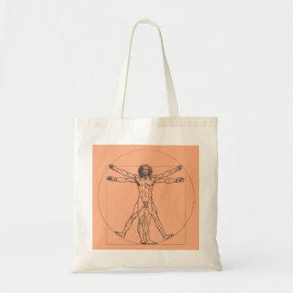 Vitruvian Mann-Taschen-Tasche Tragetasche