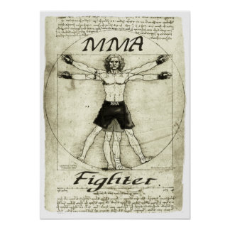 Vitruvian MIXED MARTIAL ARTS Mann Poster