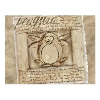 Vitruvian Pinguin Postkarte