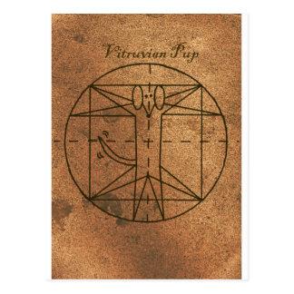 Vitruvian Welpe Postkarte