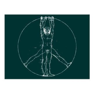 Vitruvians für Frieden Postkarte