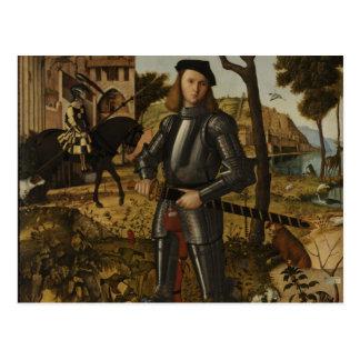 Vittore Carpaccio - junger Ritter in einer Postkarte