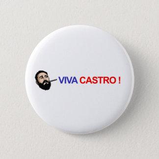 Viva Castro! Runder Button 5,7 Cm