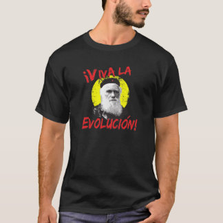 Viva La Evolucion Darwin das Shirt Männer